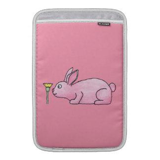 Conejo de conejito rosado funda macbook air