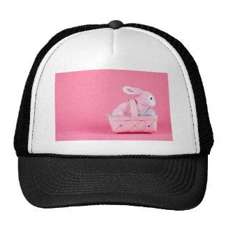 Conejo de conejito rosado gorros bordados