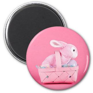 Conejo de conejito rosado imán de frigorífico