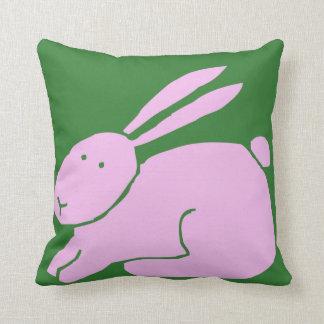 Conejo de conejito rosado lindo con los oídos larg almohada