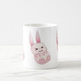 Conejo de conejito rosado lindo de Kawaii que cae Tazas
