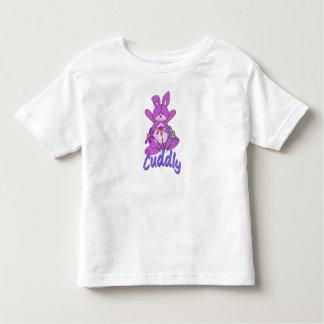 Conejo de conejito rosado mimoso playera de bebé