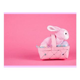 Conejo de conejito rosado postal