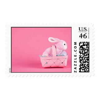 Conejo de conejito rosado sello