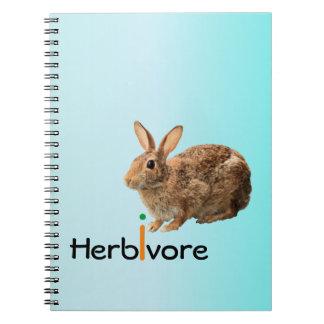 Conejo de conejito salvaje del vegano adorable libreta