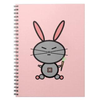 Conejo de conejito spiral notebook