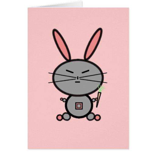Conejo de conejito tarjeta de felicitación