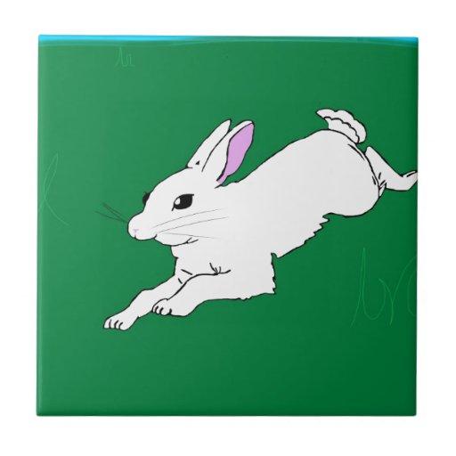 Conejo de conejito tejas  cerámicas