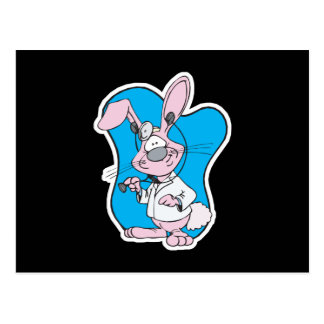 conejo de conejito tonto del doctor tarjetas postales