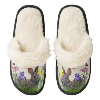 Conejo de conejito y flores, personalizable