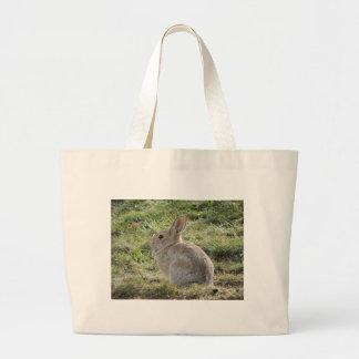 Conejo de conejo de rabo blanco bolsas lienzo