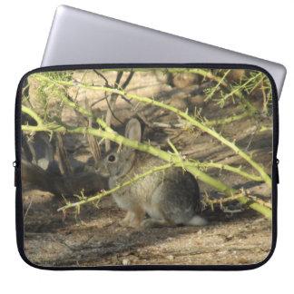 Conejo de conejo de rabo blanco funda portátil
