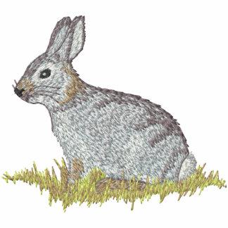 Conejo de conejo de rabo blanco polo bordado