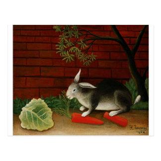 Conejo de Henri Rousseau Postal