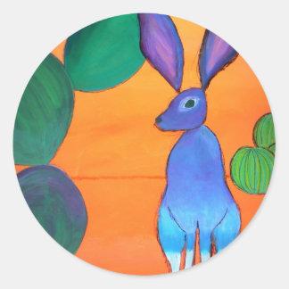 Conejo de Jack Pegatina Redonda