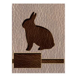 Conejo de la Cuero-Mirada suave Tarjetas Postales