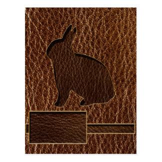 Conejo de la Cuero-Mirada Tarjetas Postales