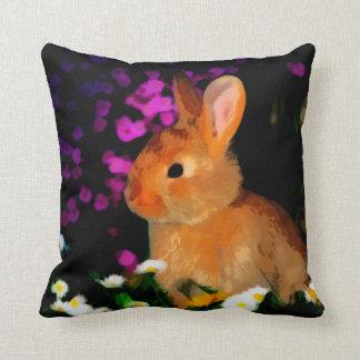 Conejo de la flor cojin