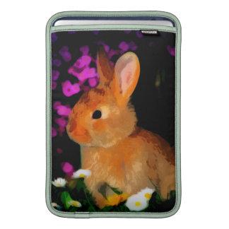 Conejo de la flor fundas macbook air