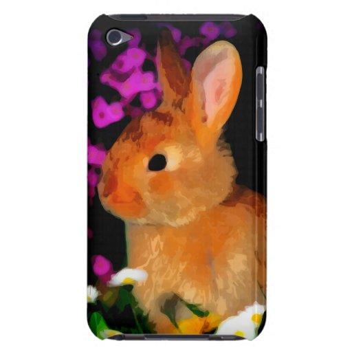 Conejo de la flor funda para iPod