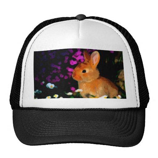 Conejo de la flor gorro de camionero