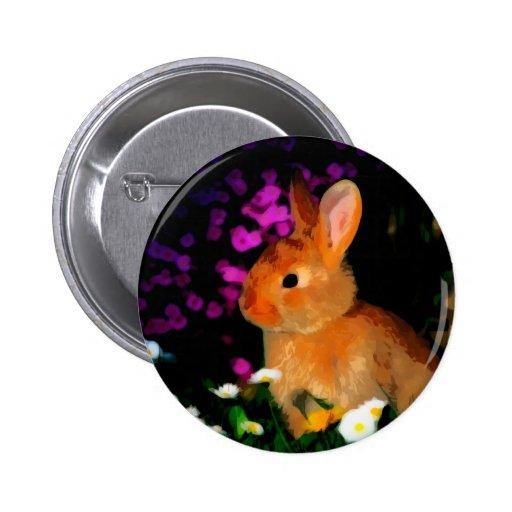 Conejo de la flor pin