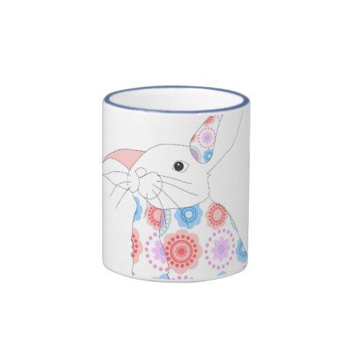 Conejo de la flor tazas