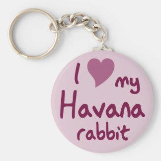 Conejo de La Habana Llavero Redondo Tipo Pin