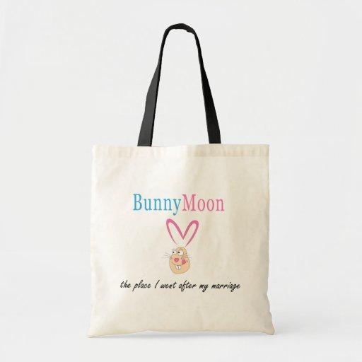 Conejo de la luna de miel bolsa de mano