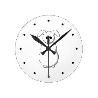 Conejo de la nieve, historieta relojes de pared