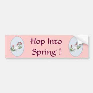 Conejo de la primavera etiqueta de parachoque