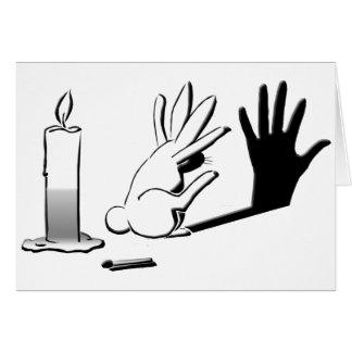 Conejo de la sombra por Lightillusions.com Tarjeta De Felicitación
