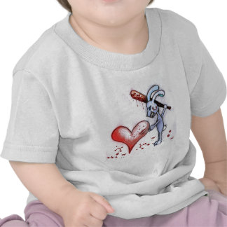 Conejo de la tarjeta del día de San Valentín Camisetas