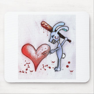 Conejo de la tarjeta del día de San Valentín Tapetes De Ratones