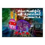 Conejo de los poderes especiales [tarjeta]