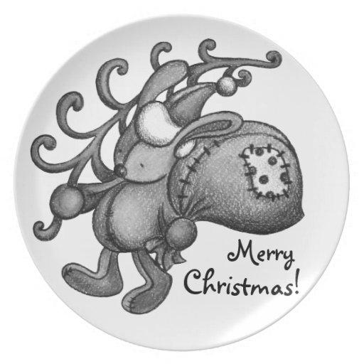 Conejo de Navidad Platos