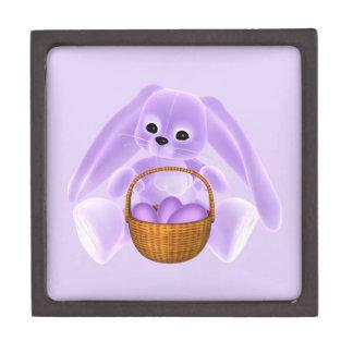 Conejo de Pascua de la lila Cajas De Joyas De Calidad
