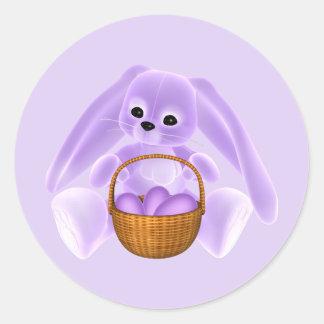 Conejo de Pascua de la lila Etiqueta