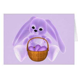 Conejo de Pascua de la lila Felicitacion