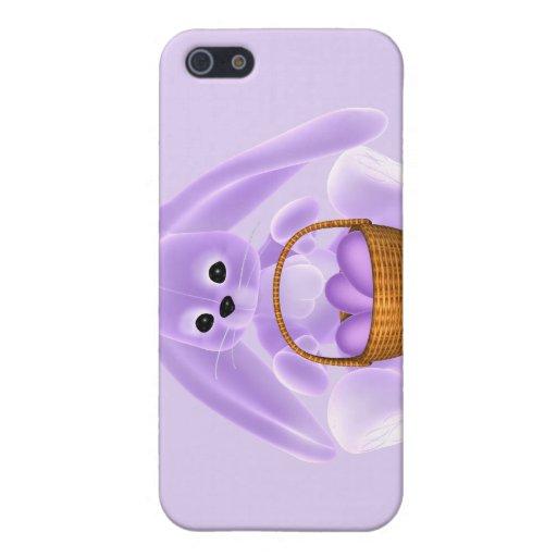 Conejo de Pascua de la lila iPhone 5 Cárcasas