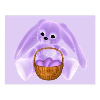 Conejo de Pascua de la lila Postal