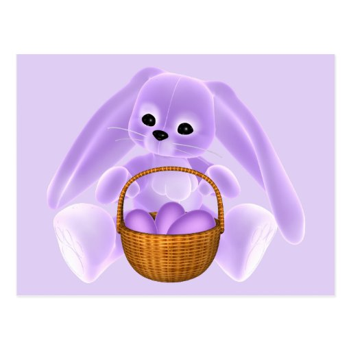 Conejo de Pascua de la lila Postales