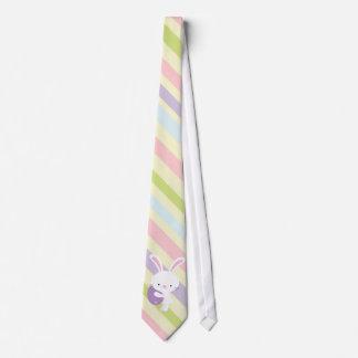 Conejo de Pascua del dibujo animado con el lazo de Corbata Personalizada