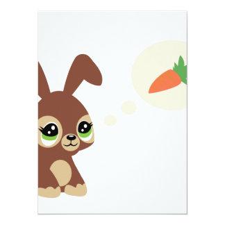 """conejo de pascua invitación 5.5"""" x 7.5"""""""