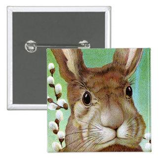 Conejo de Pascua Pin Cuadrado