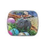 Conejo de Pascua y cesta de la pelota de golf