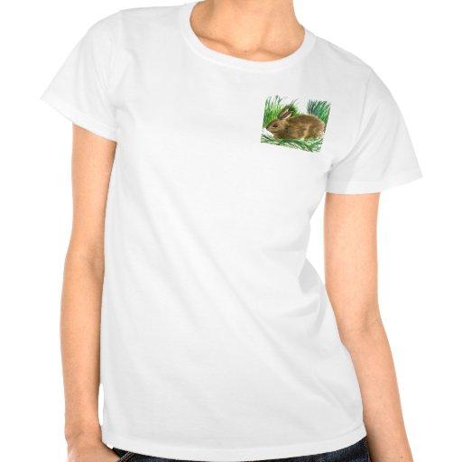 Conejo de rabo blanco de reclinación - acuarela camiseta