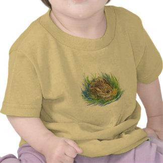 conejo de rabo blanco del bebé - lápiz de la acuar camisetas