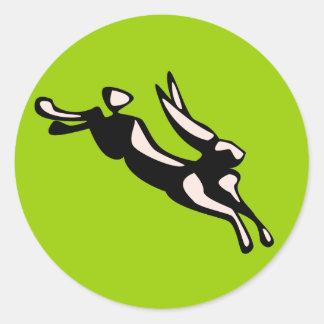 Conejo de salto Jack Pegatina Redonda