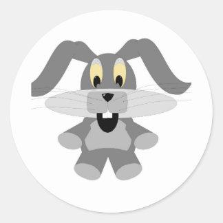 Conejo del bebé pegatina redonda